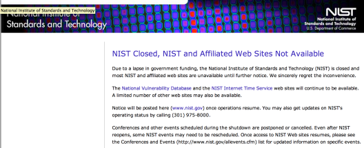 NIST is not Essential